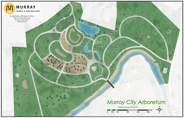 Murray City Arboretum Map